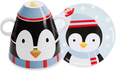 Penguin 4 pc Stackable Dinner Set