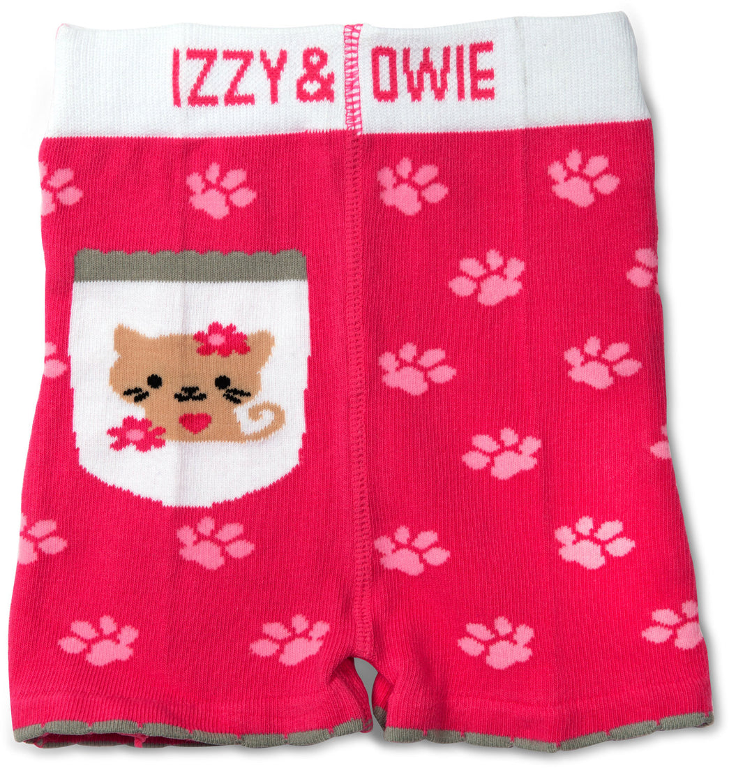 Pink Kitty Baby Shorts