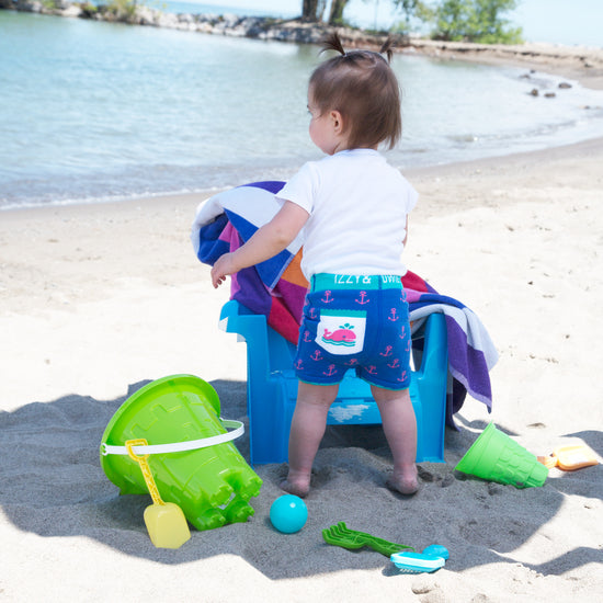 Blue and Pink Whale Shorts 6-12 M Shorts Izzy & Owie - GigglesGear.com