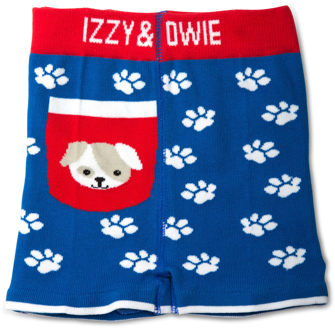 Red and Blue Puppy Baby Shorts