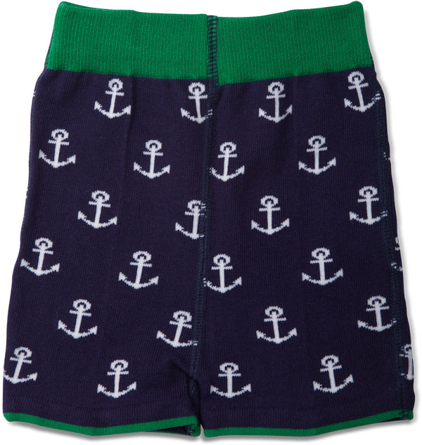 Blue and Green Whale Baby Shorts Shorts Izzy & Owie - GigglesGear.com