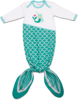 Seafoam Mermaid Knotted Baby Onesie 0-9M