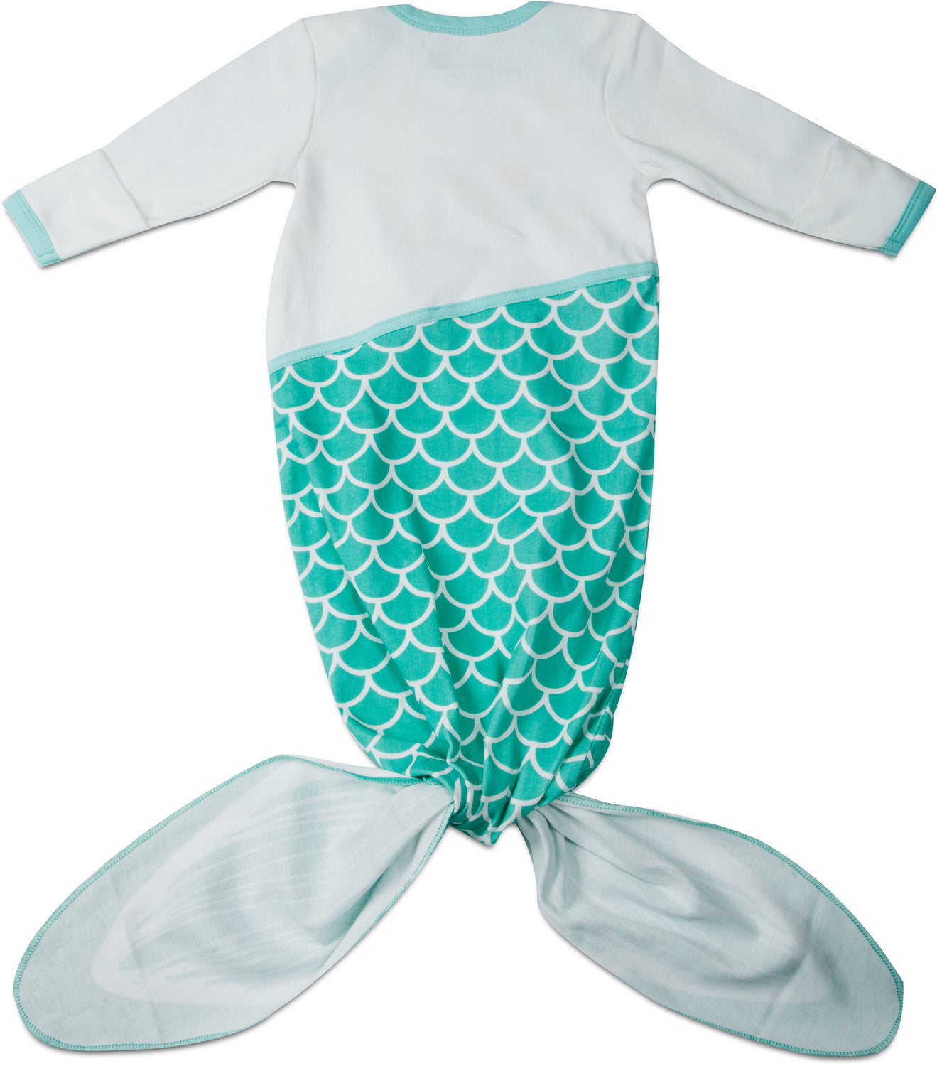 Seafoam Mermaid Knotted Baby esie by Izzy & Owie Giggles Gear