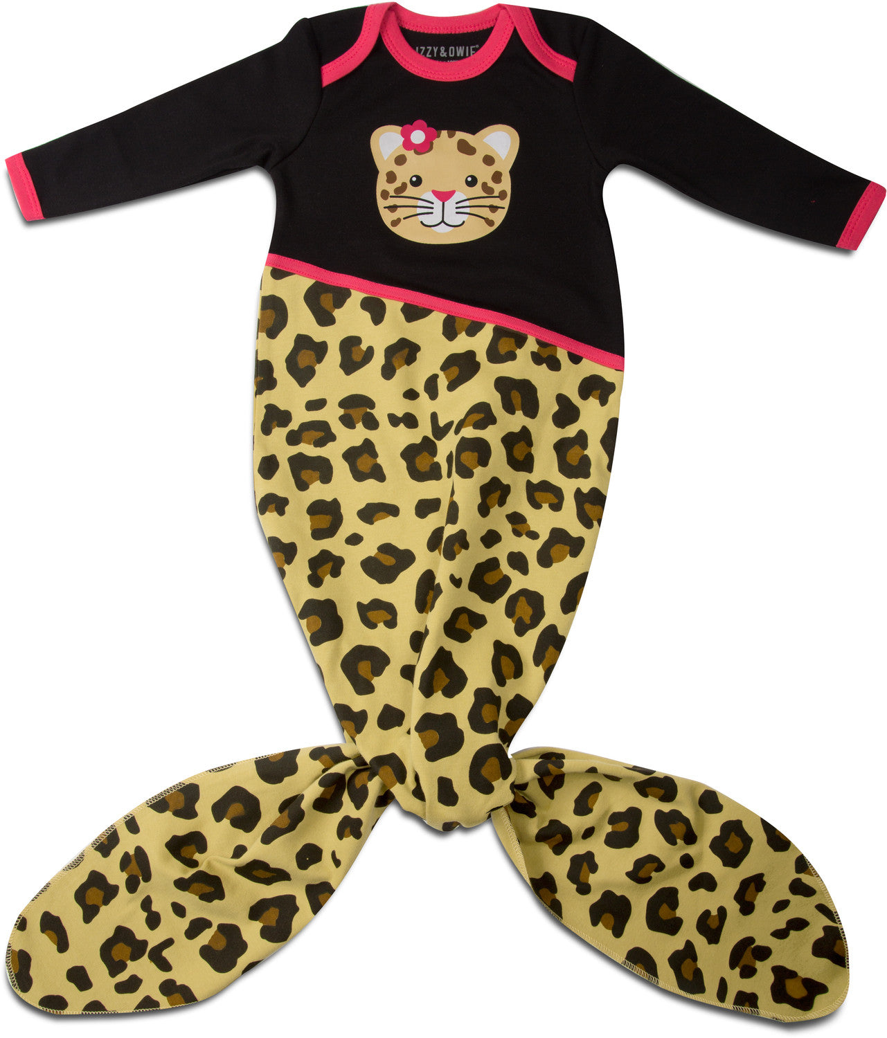 Jungle Cat Knotted Onesie 0-9 M Baby Knotted Onesie Izzy & Owie - GigglesGear.com