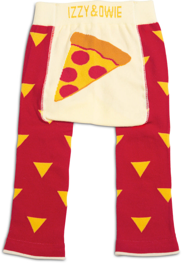 Red and Orange Pizza Baby Leggings 6-12M Leggings Izzy & Owie - GigglesGear.com