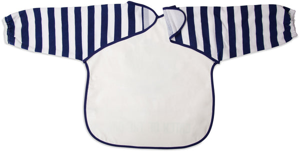 Navy and White Whale Catch of the Day Baby Smock Smock Izzy & Owie - GigglesGear.com