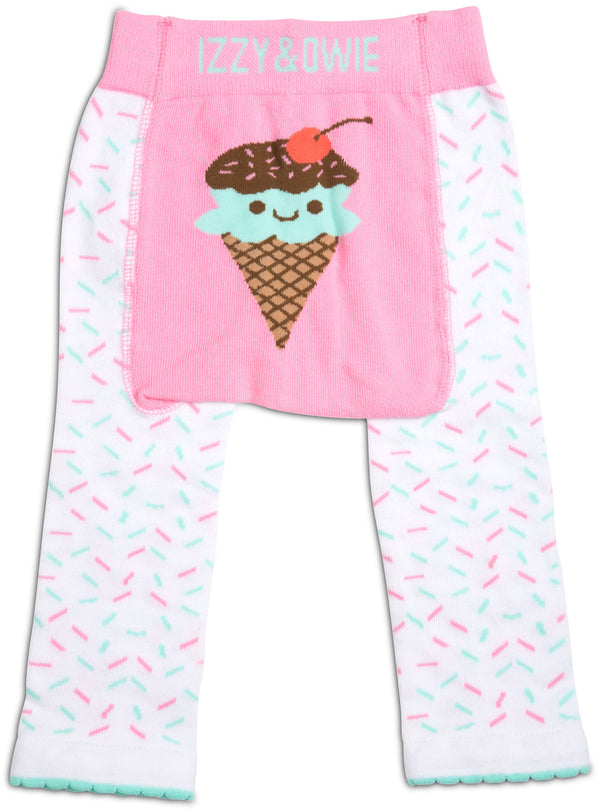 Pink & Mint Ice Cream Baby Leggings Baby Leggings Izzy & Owie - GigglesGear.com