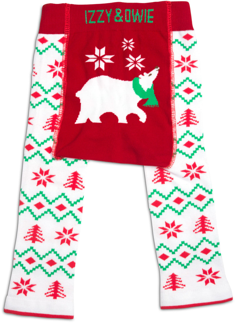Christmas Polar Bear Baby Leggings
