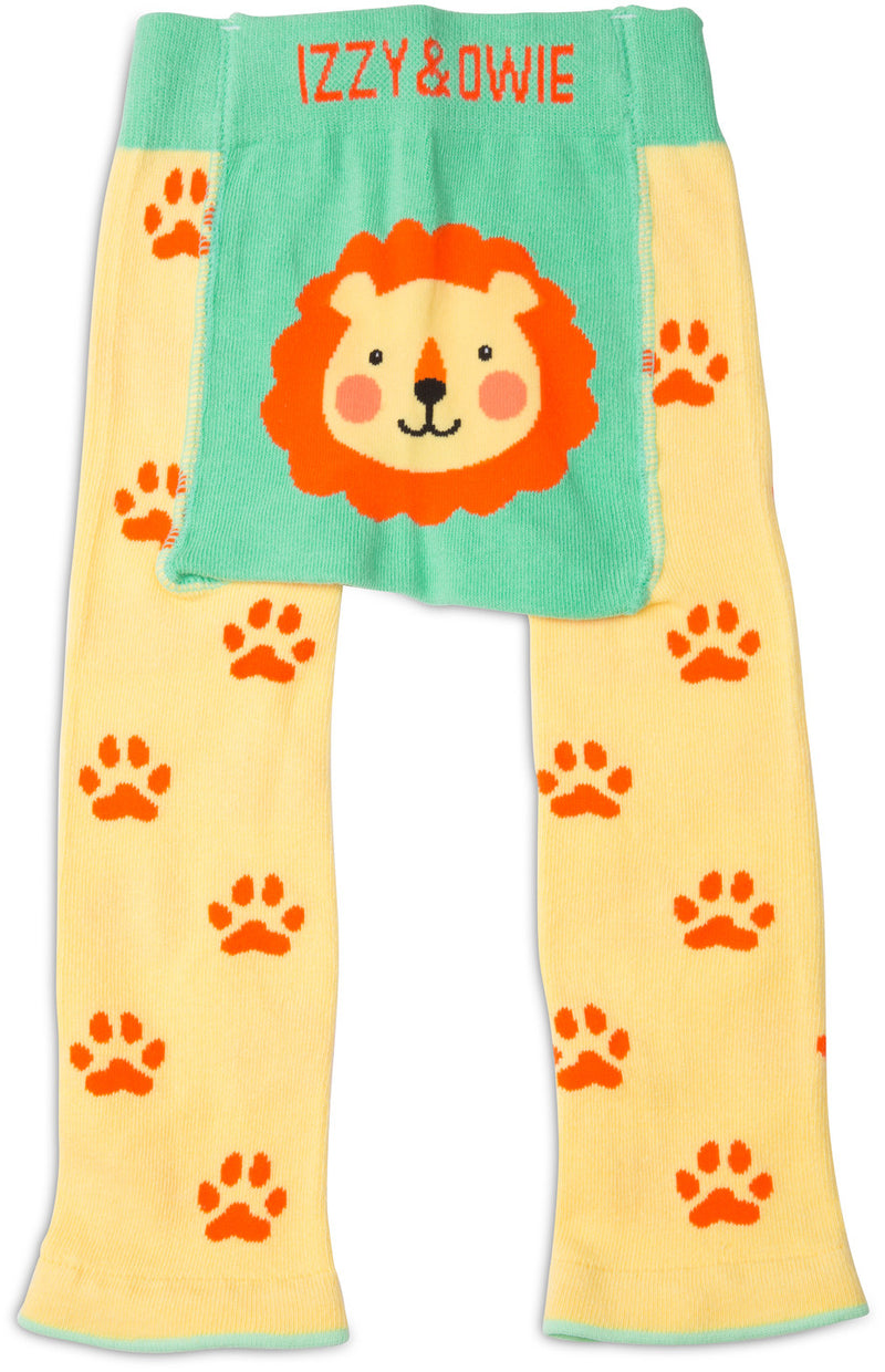 Yellow Safari Lion Baby Leggings - GigglesGear.com