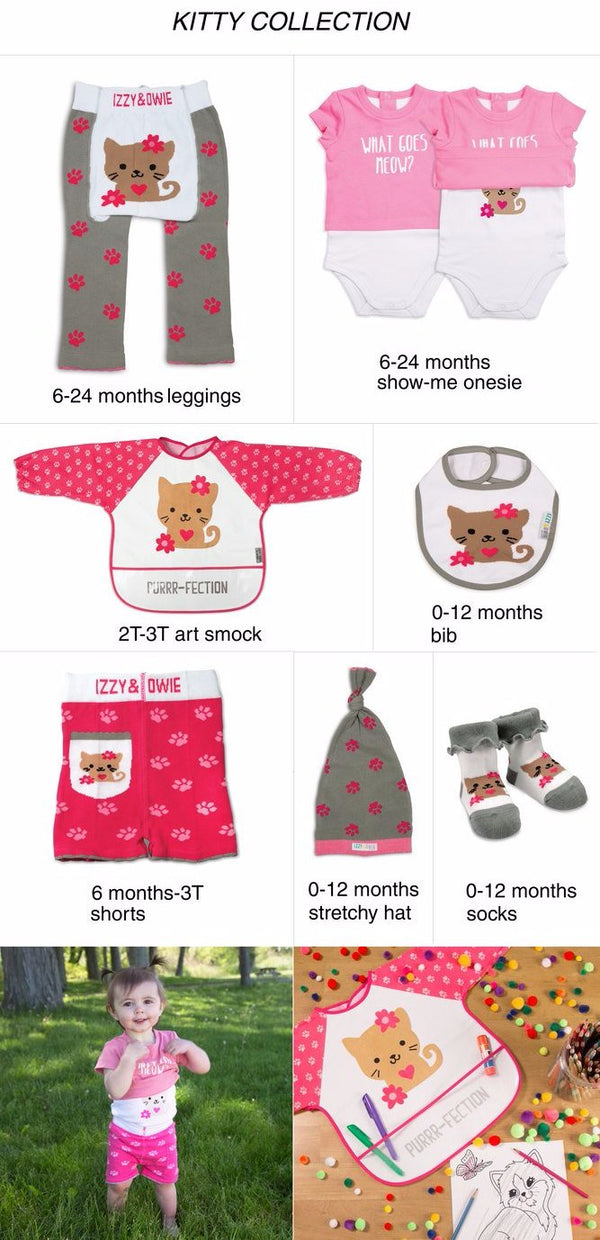 What Goes Meow? Light Pink Kitty Baby Shirt-Onesie Onesie Izzy & Owie - GigglesGear.com
