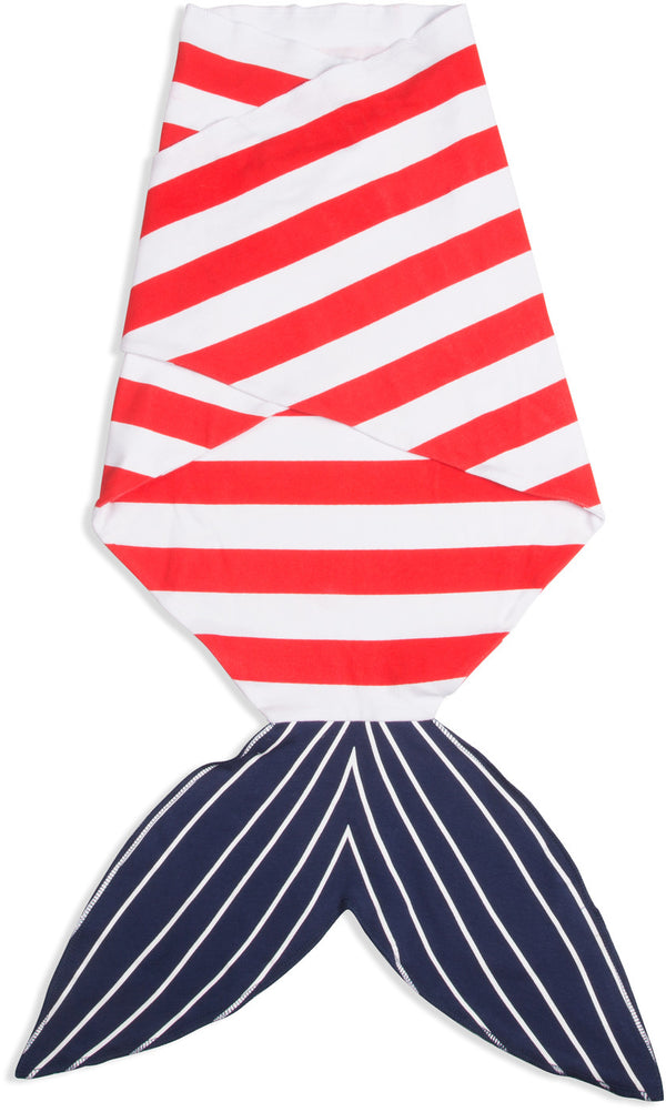 Red and Navy Shark Baby Swaddle Wrap Baby Swaddle Wrap Izzy & Owie - GigglesGear.com
