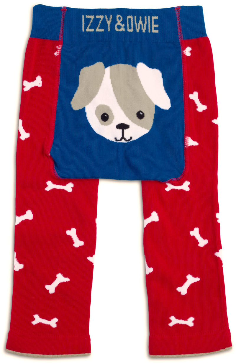 Red and Blue Puppy Leggings 6-12 Months Baby Leggings Izzy & Owie - GigglesGear.com