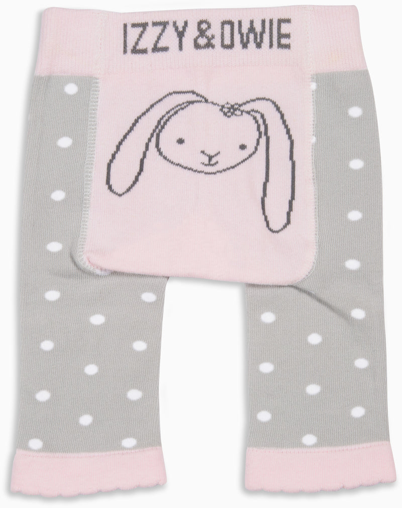 Soft Pink Bunny 0-6 Months Leggings Baby Leggings Izzy & Owie - GigglesGear.com