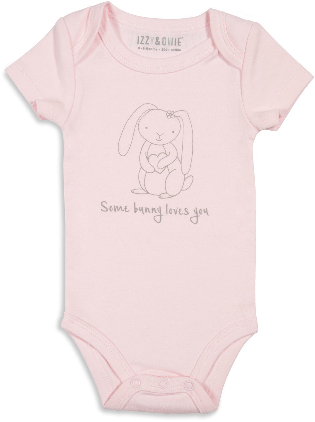 Soft Pink Bunny Some Bunny Loves You 0-6 Months Onesie Baby Onesie Izzy & Owie - GigglesGear.com
