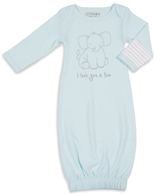 I love you a ton Baby Sleeping Gown w/Mitten Cuffs