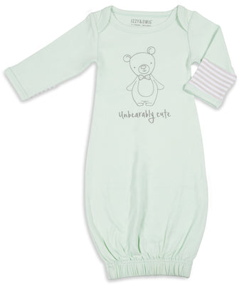 Unbearably Cute Baby Sleeping Gown w/Mitten Cuffs