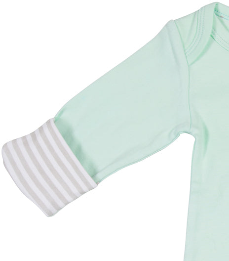 Unbearably Cute Baby Sleeping Gown w/Mitten Cuffs Baby Pajamas Izzy & Owie - GigglesGear.com