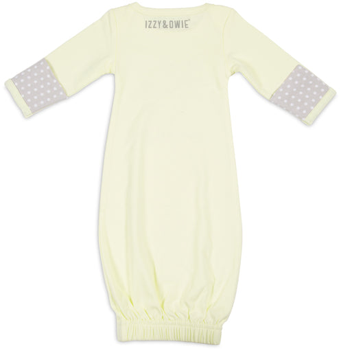 Fawned of you Baby Sleeping Gown w/Mitten Cuffs Baby Pajamas Izzy & Owie - GigglesGear.com