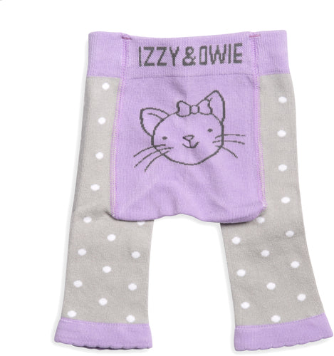 Soft Lavender Kitty Baby Leggings 0-6M