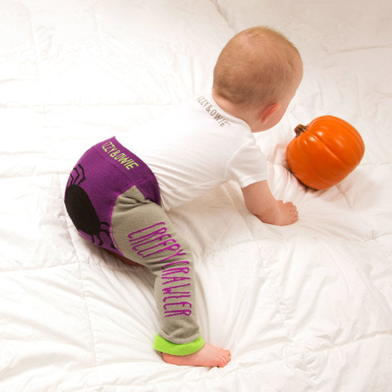 Creepy Crawler Halloween Baby Leggings 6-12M Leggings Izzy & Owie - GigglesGear.com