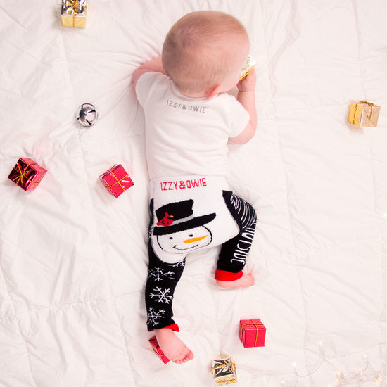 Baby it's cold outside Christmas Baby Leggings Baby Leggings Izzy & Owie - GigglesGear.com