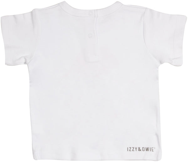 Brown Bear 12-24 Months White T-Shirt Baby Shirt Izzy & Owie - GigglesGear.com