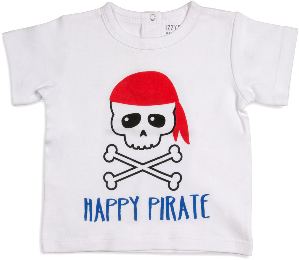 Happy Pirate 12-24 Months White T-Shirt