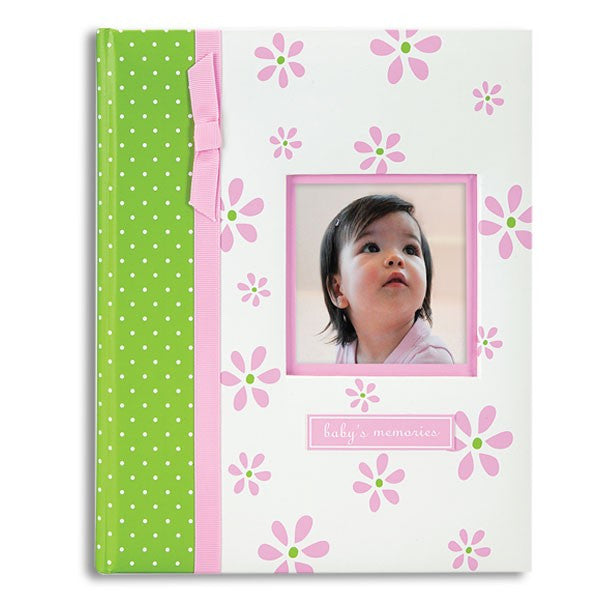 Pink Daisy Baby Record Book Baby Album Pearhead - GigglesGear.com