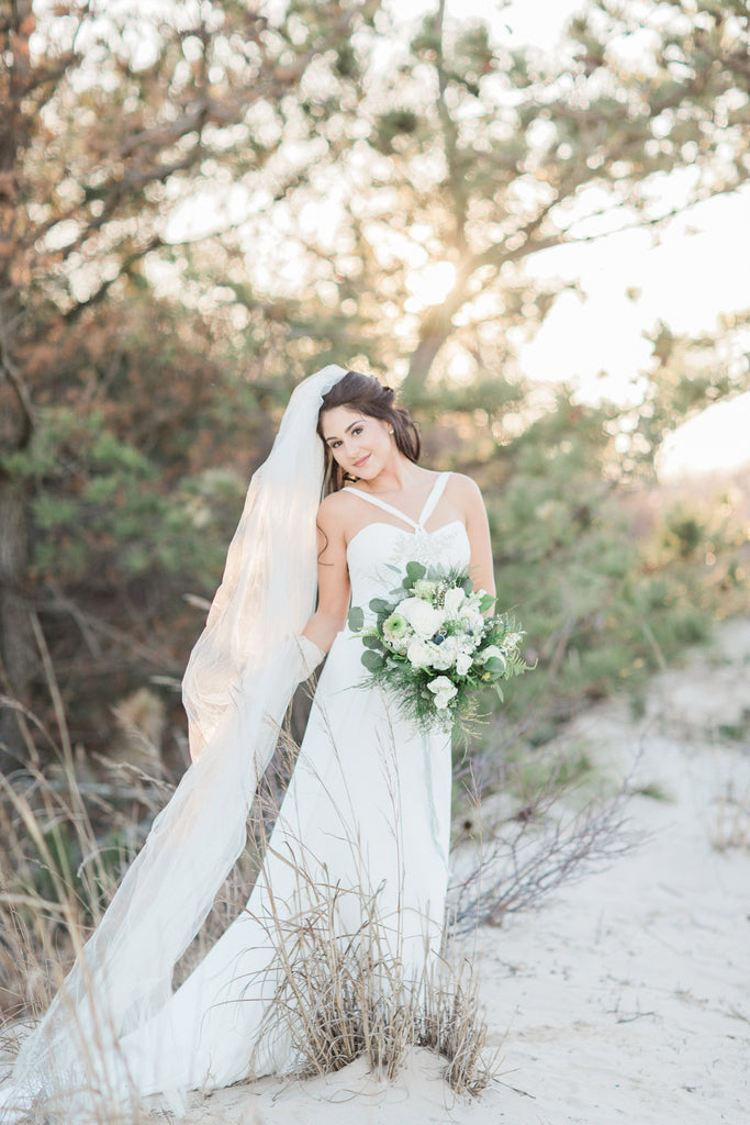 Timeless White & Green Beach Wedding Inspiration at Cape Henlopen State Park