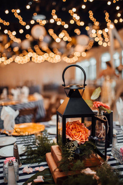little miss lovely floral design // black lantern rentals // ocean city maryland