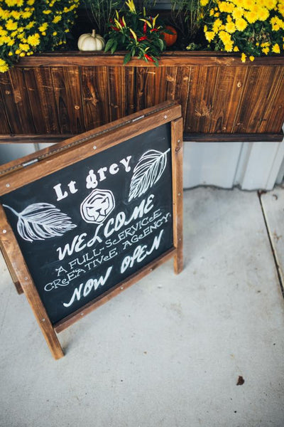little miss lovely floral design // chalkboard rentals