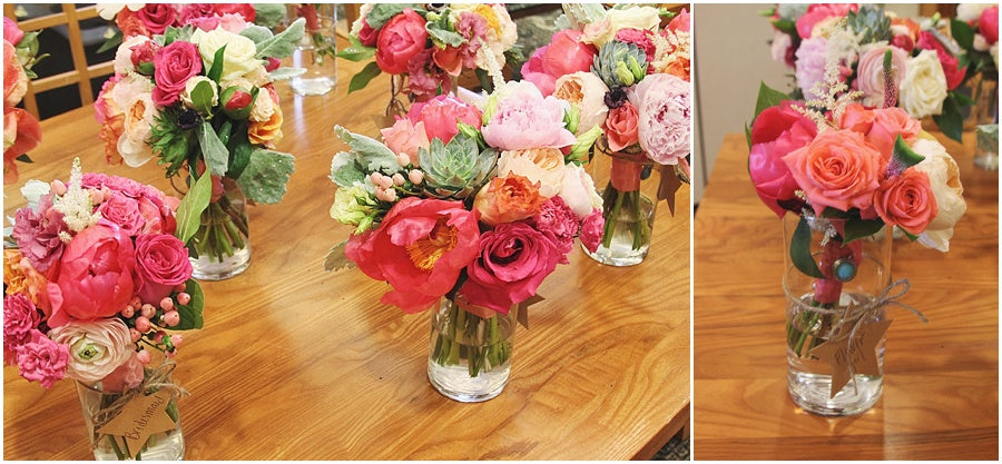 little miss lovely floral design // heritage shores club wedding // coral and peach wedding flowers