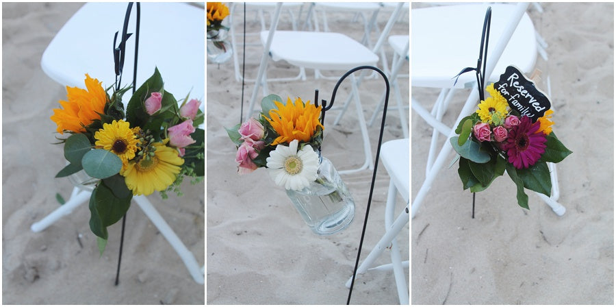 little miss lovely floral design // ocean city maryland wedding florist // beach ceremony ideas