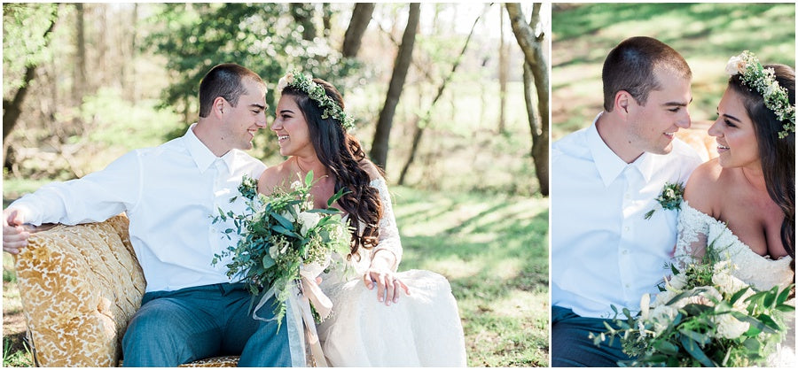 leah adkins photography // little miss lovely floral design // ivory grey & brush wedding