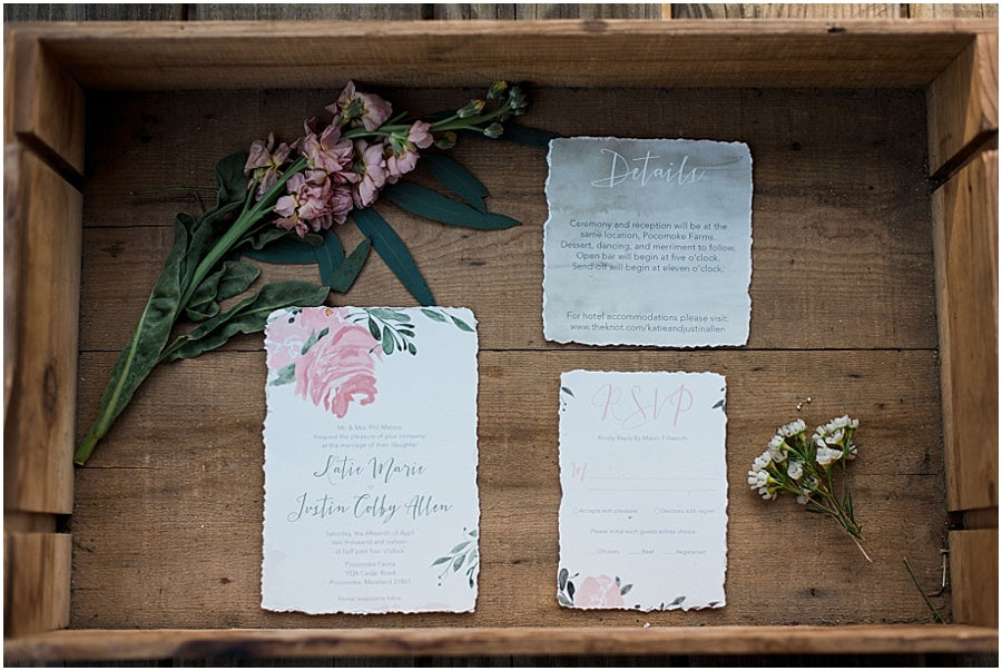 leah adkins photography // little miss lovely floral design // brooke boothe design invitation suite