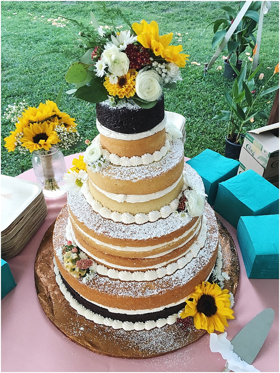little miss lovely floral design // naked cake with flowers by desserts by rita