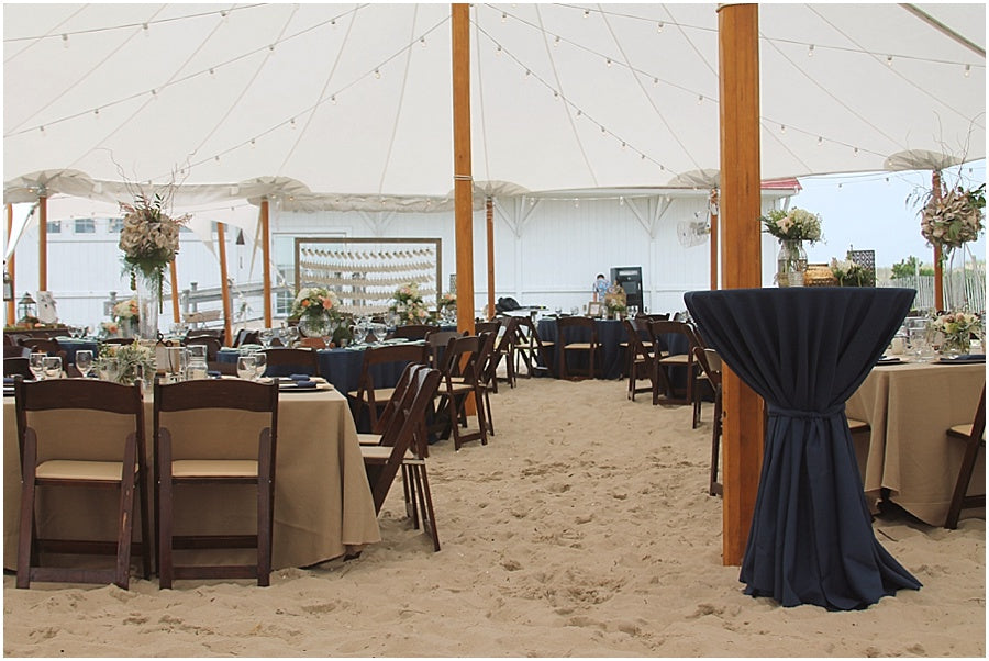 little miss lovely floral design // rehoboth beach de wedding // coastal tented events