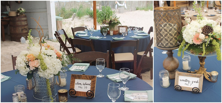 little miss lovely floral design // indian river life saving station wedding // rustic coastal beach wedding