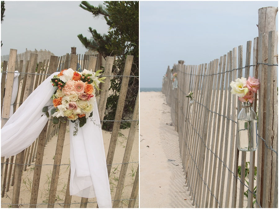 little miss lovely floral design // rehoboth beach de wedding // beach wedding flowers