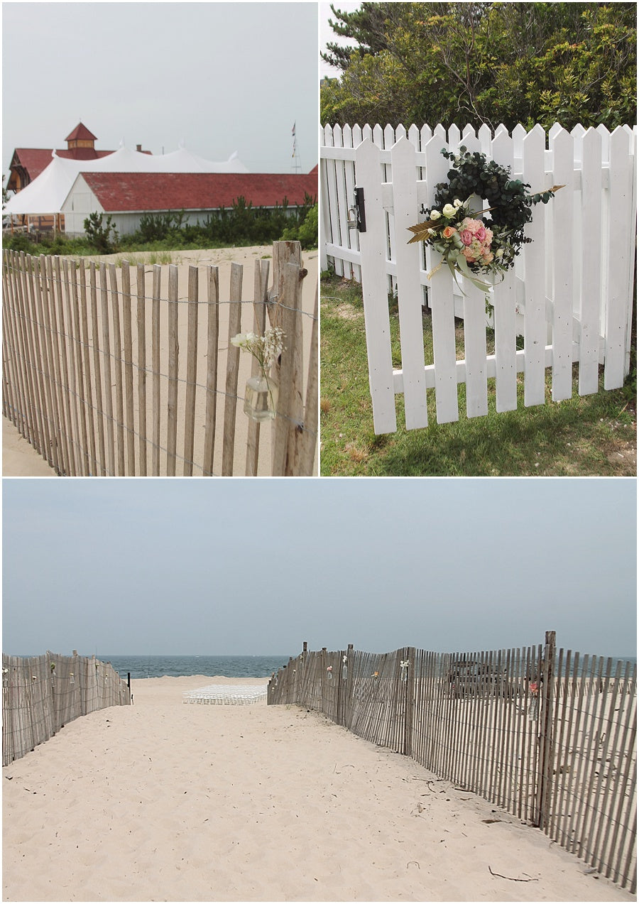 little miss lovely floral design // rehoboth beach de wedding // coastal tented events // entry wreath