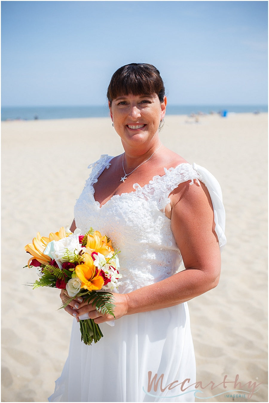 little miss lovely floral design // McCarthy Imagerie // Ocean City Maryland Tropical Beach Wedding Bouquets