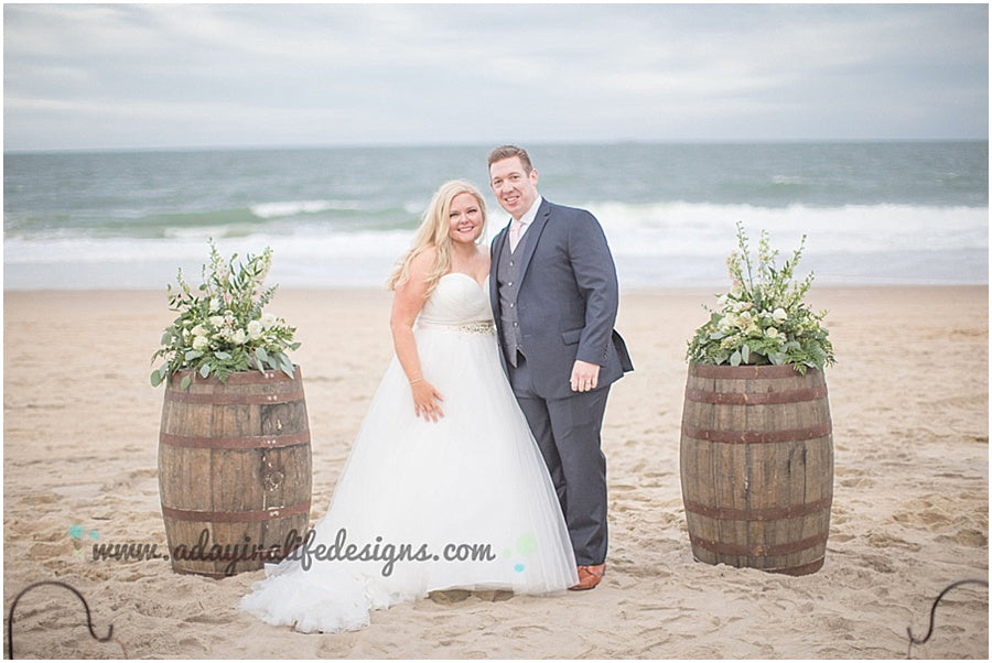 little miss lovely floral design // a day in a life design photography // rehoboth beach dogfish head wedding // rustic beach wedding