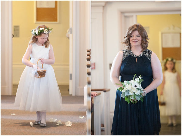 little miss lovely floral design // elizabeth watsky photography // providence RI public library wedding // black white navy wedding flowers