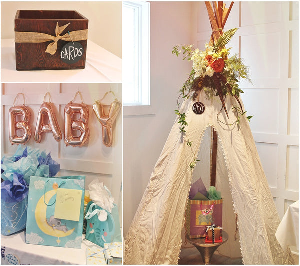 little miss lovely floral design and event decorating // bohemian baby boy shower at waterman's seafood in ocean city maryland