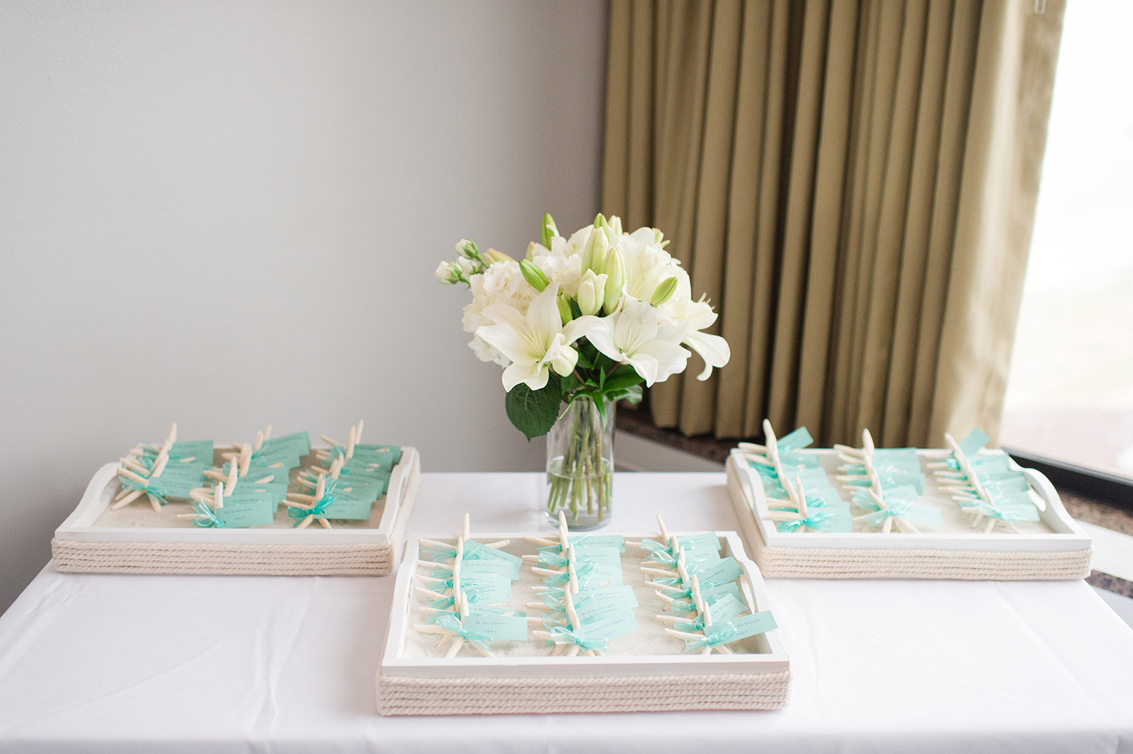 Little Miss Lovely Floral Design // Salero wedding Rehoboth Beach DE // Teal and Ivory Wedding Flowers