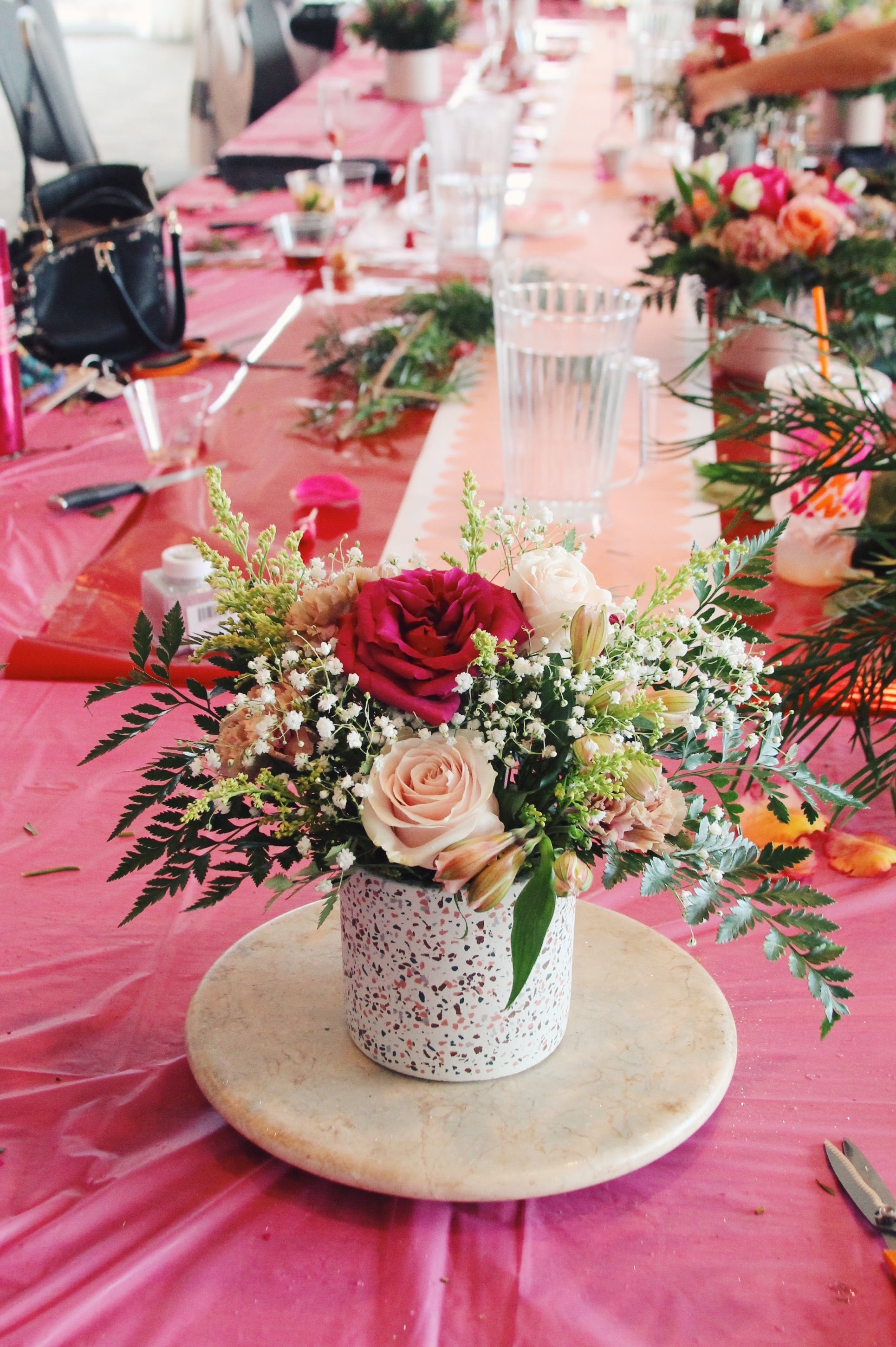 little miss lovely // galentine's day 2020 soiree at bear trap dunes // floral design workshop""