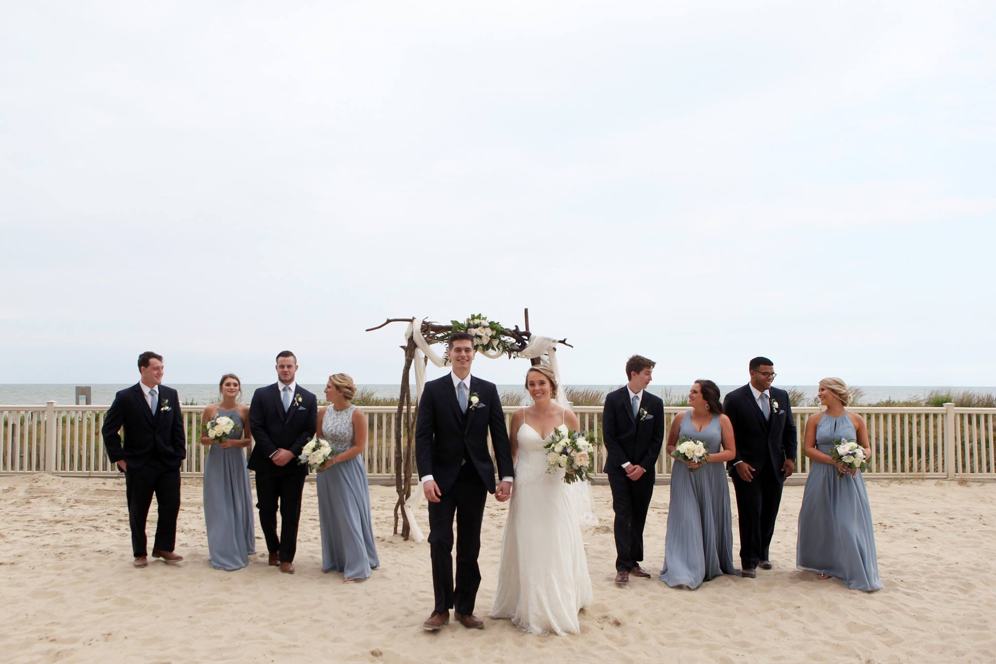 gillette portrait arts photography // little miss lovely floral design // golden sands ocean city md wedding