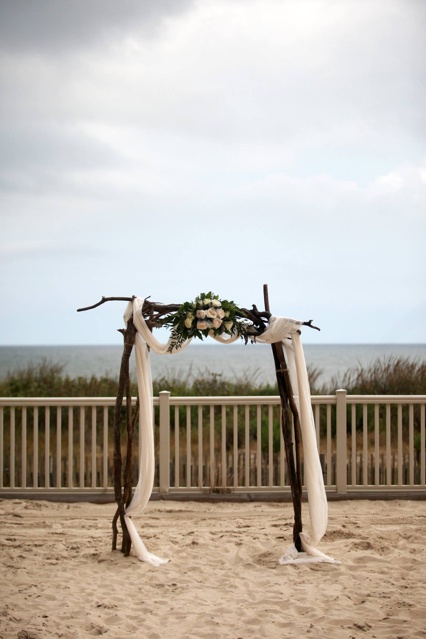 gillette portrait arts photography // little miss lovely floral design // golden sands ocean city md wedding // ivory and dusty blue wedding
