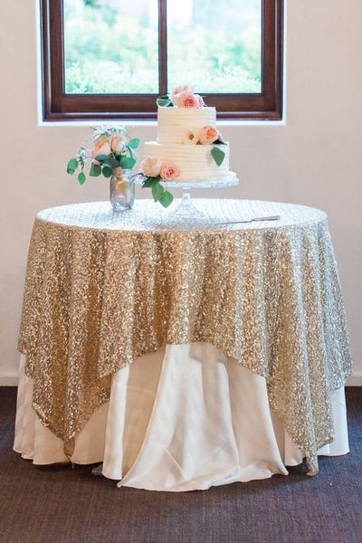LML gold sequin table overlay