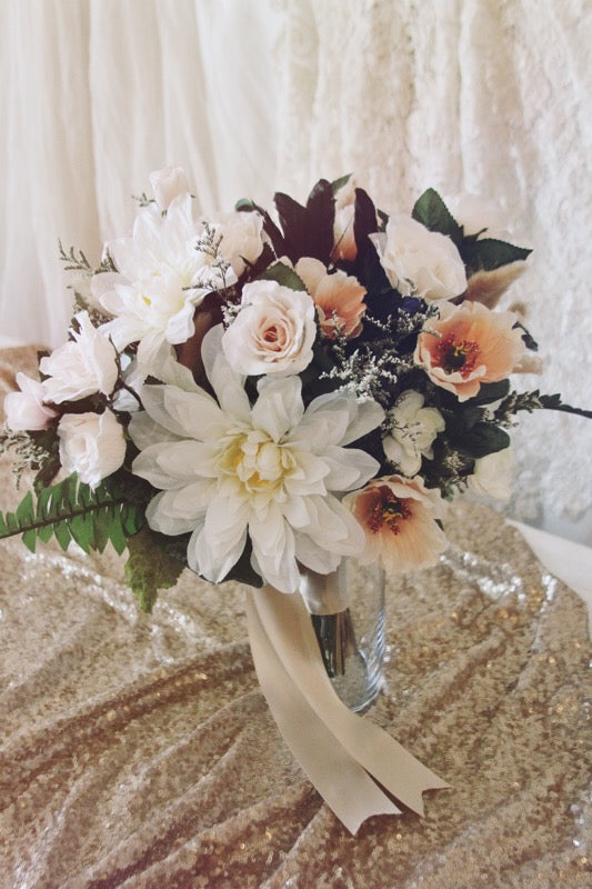 blush collection // bridal bouquet // little miss lovely floral design // artificial rental flowers
